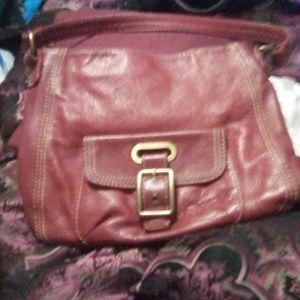 St. John's Bay maroon shoulder bag never been used